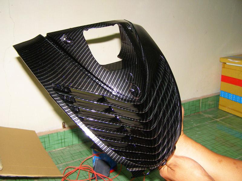 Chuyên sơn carbon xe Exciter