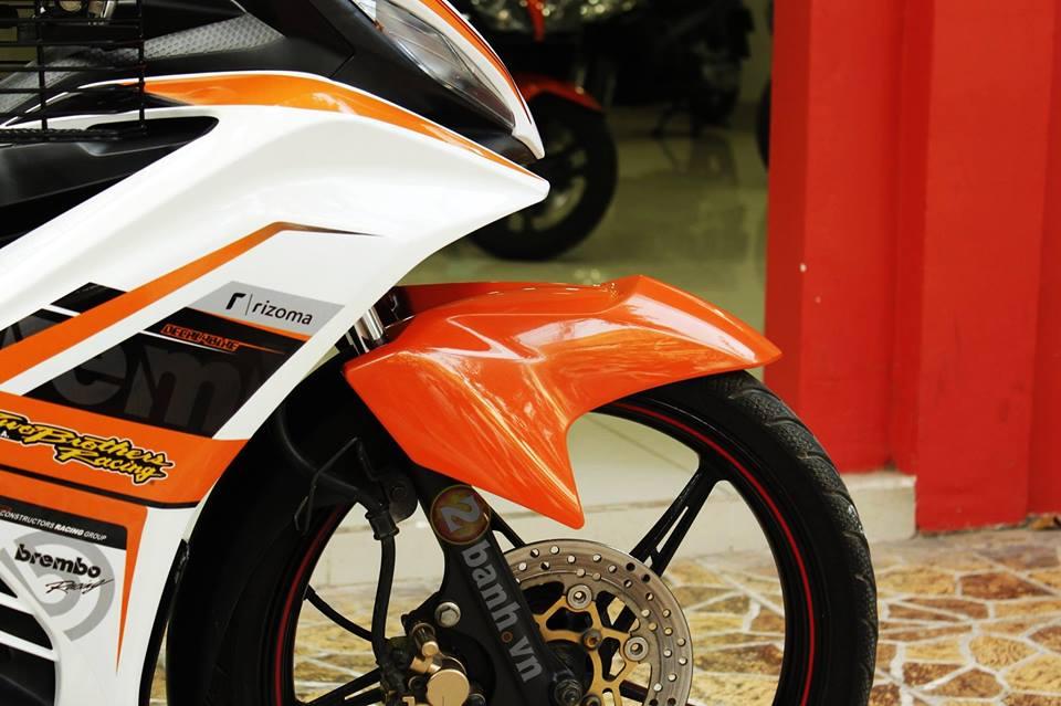 Sơn phối màu Exciter RC cam - trắng cực đẹp
