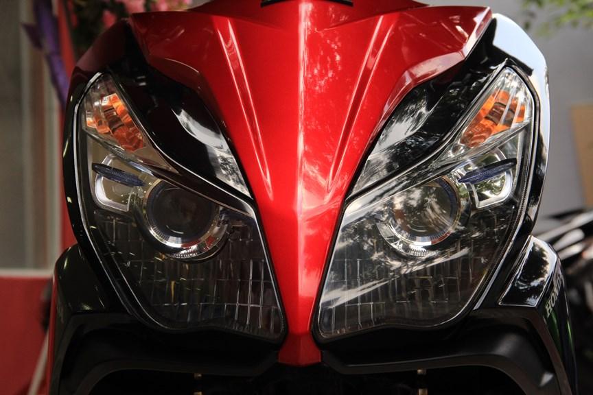 Sơn xe Air Blade 125 2014 màu đỏ - đen zin cực đẹp