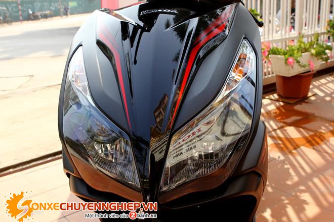Sơn xe Air Blade 125 2015 màu đen mờ zin cực đẹp