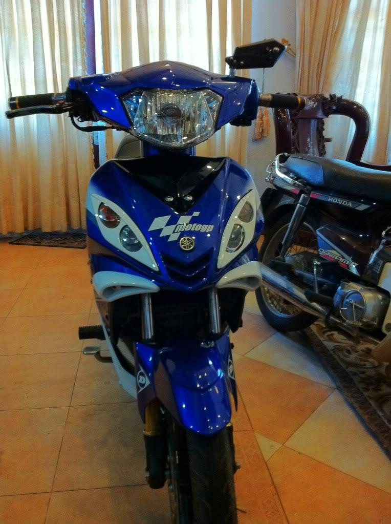 Sơn xe Exciter GP 2010 màu xanh zin cực đẹp