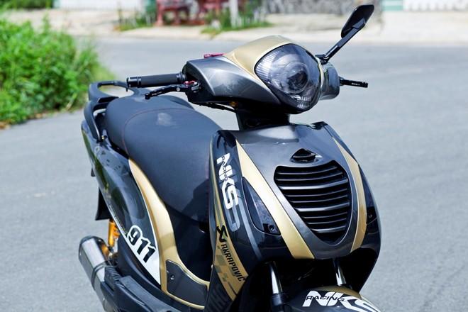 Sơn xe Honda PS màu đen phong cách, cực đẹp