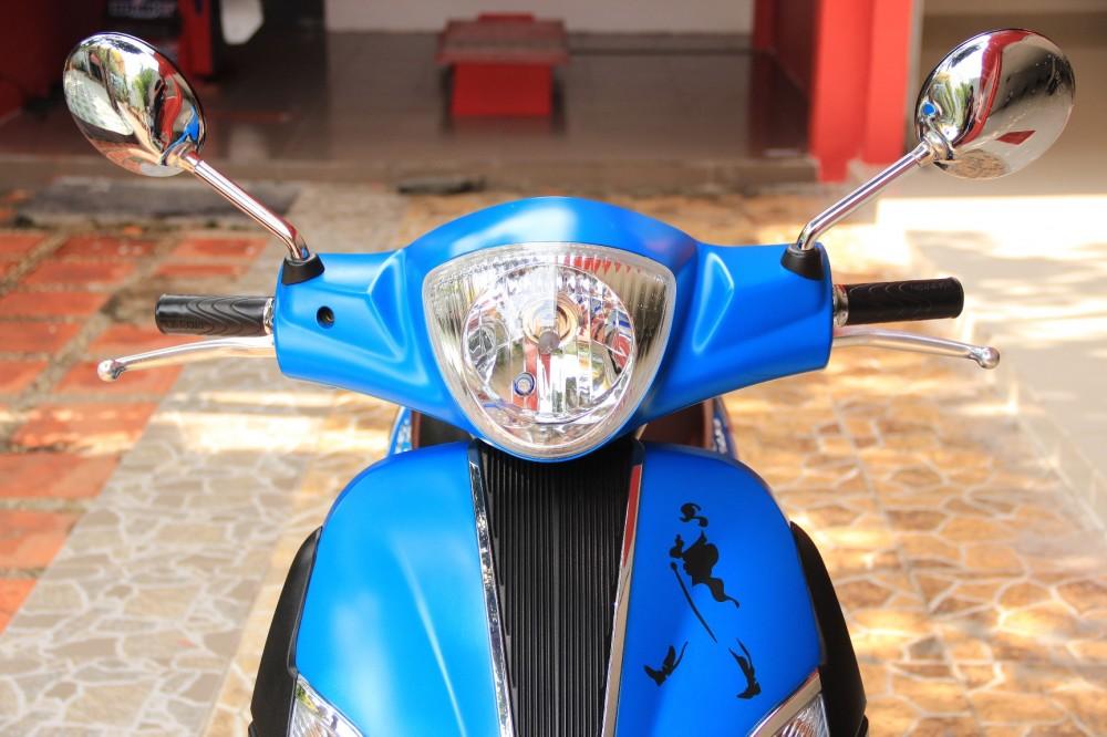Sơn xe liberty 125 màu xanh nhám zin cực đẹp