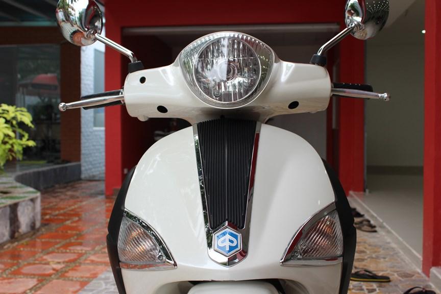 Sơn xe Liberty 150 màu trắng zin cực đẹp