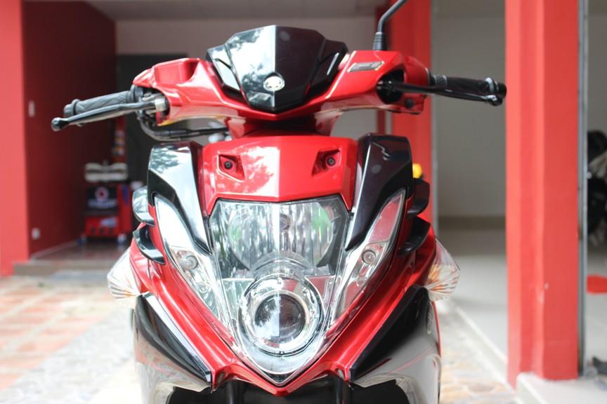 Sơn xe Nouvo SX RC màu đỏ đen zin cực đẹp