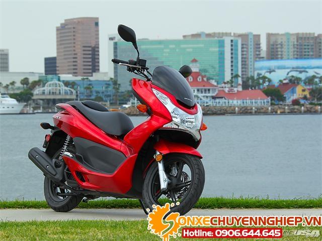 Sơn xe PCX 2012 màu đỏ zin cực đẹp