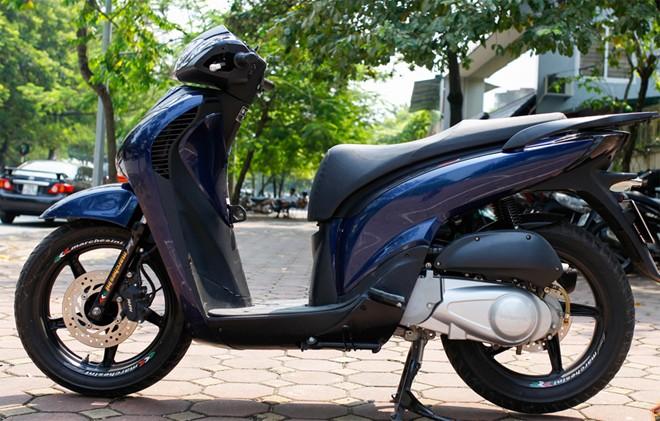 Sơn xe SH 2009 màu xanh - đen cực đẹp
