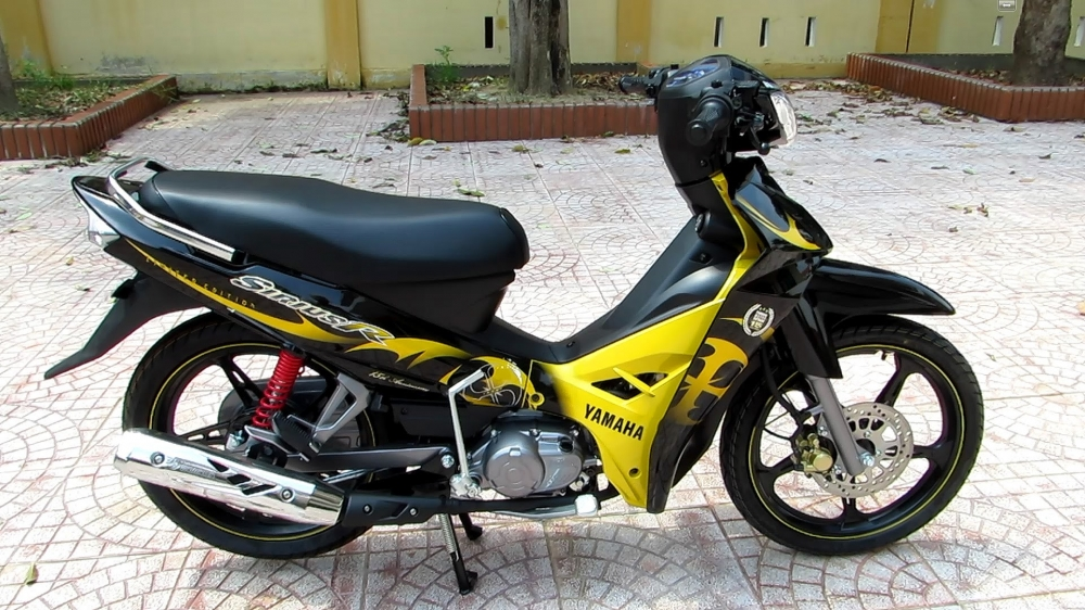 Sơn xe Sirius R màu vàng đen zin cực đẹp
