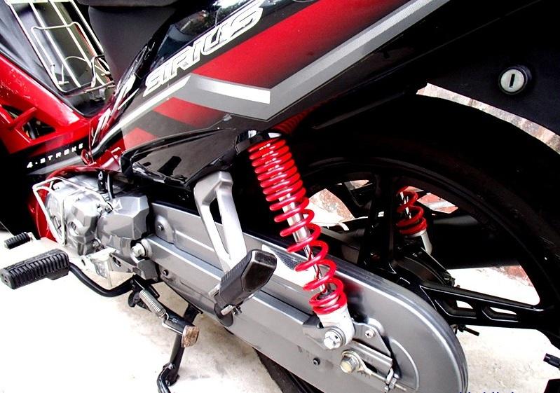 Sơn xe Sirius RC màu đỏ đen zin cực đẹp