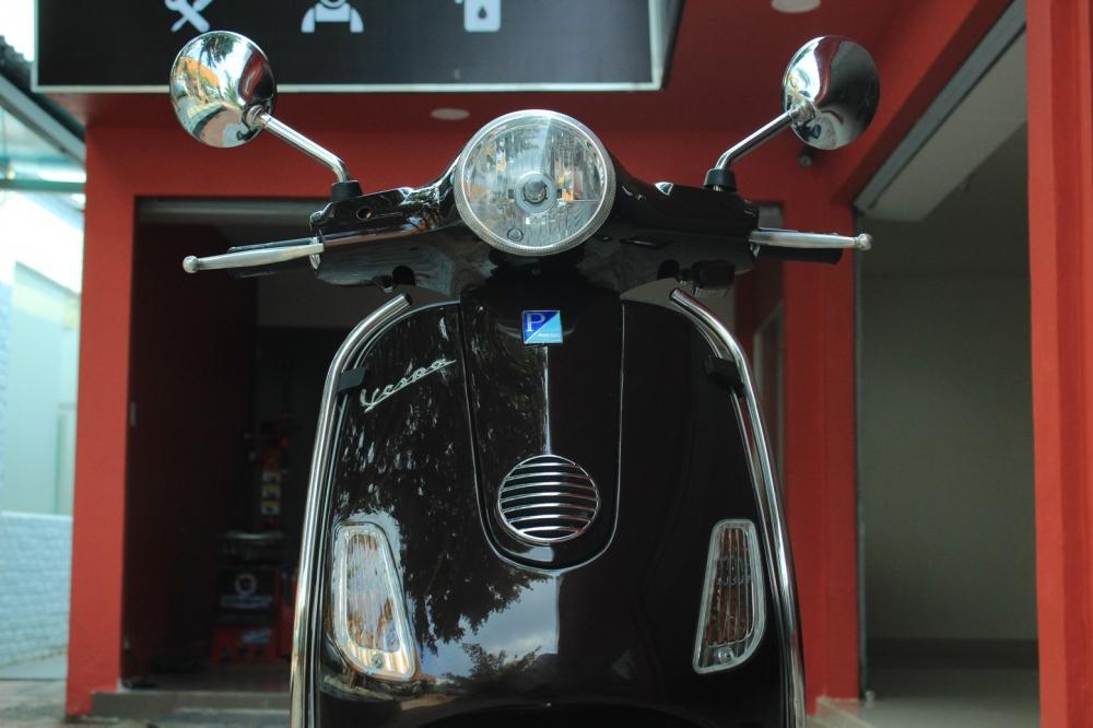 Sơn xe Vespa LX 125 màu nâu zin cực đẹp