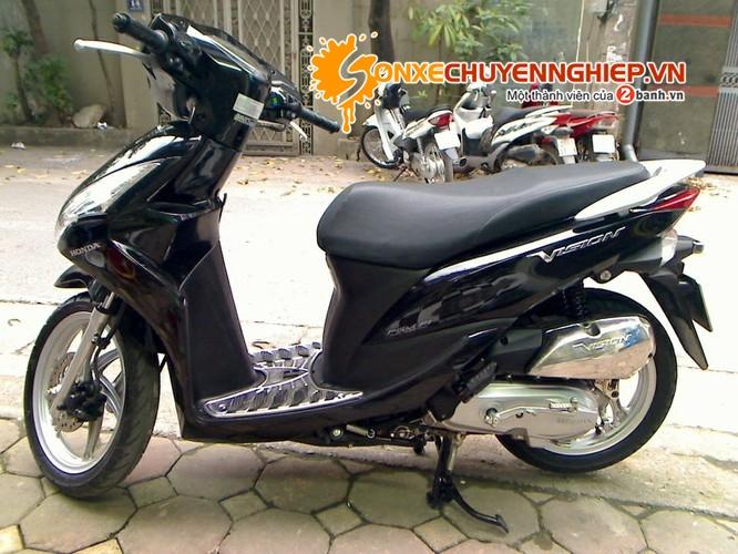 Sơn xe Vision 2011 màu đen zin cực đẹp