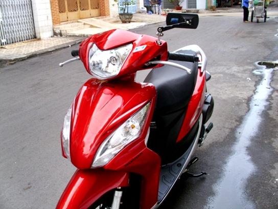 Sơn xe Vision 2012 màu đỏ zin cực đẹp