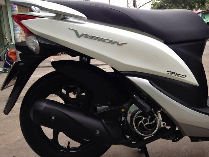 Sơn xe Vision 2011 màu trắng zin cực đẹp