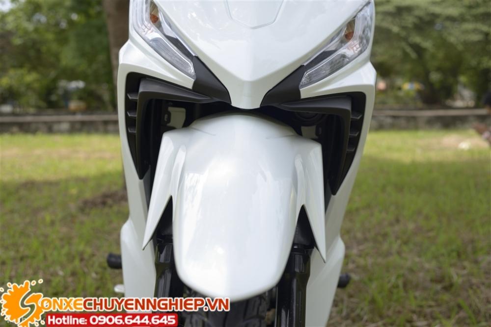Sơn xe Wave RSX FI màu trắng xám zin cực đẹp