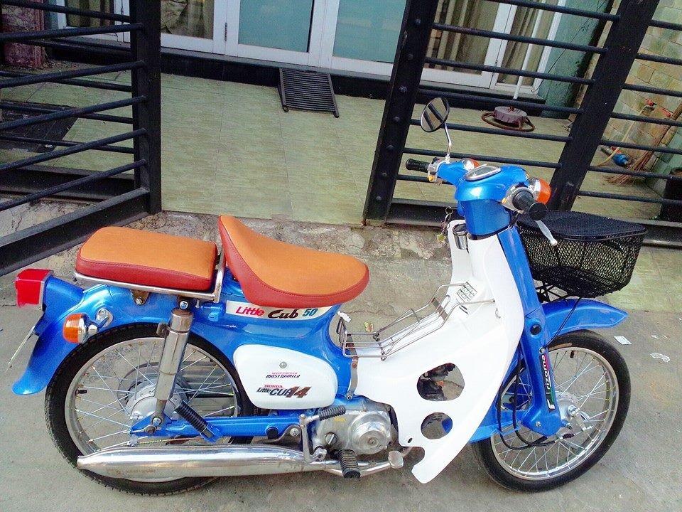 Sơn xe Cub 50 phối màu xanh độc đáo