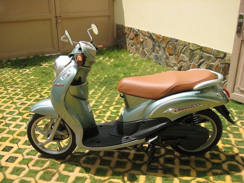 Sơn xe Mio Classico màu xanh ngọc zin cực đẹp