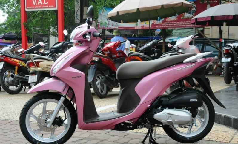 Sơn xe Vision 2016 màu hồng cực đẹp