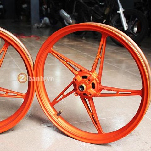 Sơn mâm Exciter màu cam