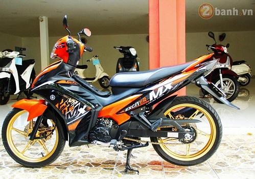 Sơn phối màu Exciter 135 cam - đen cực đẹp