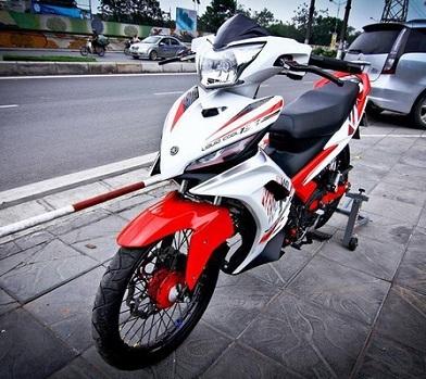 Sơn phối màu Exciter trắng đỏ đen cực đẹp