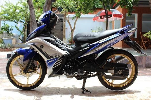 Sơn xe Exciter GP 2011 màu xanh zin cực đẹp