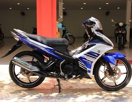 Sơn xe Exciter GP 2013 màu xanh zin cực đẹp