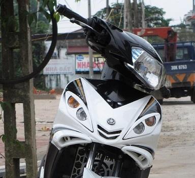Sơn xe Exciter RC 2010 màu trắng zin cực đẹp