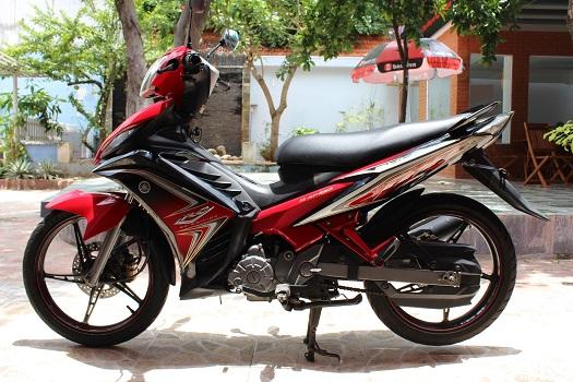 Sơn xe Exciter RC 2011 màu đỏ đen zin cực đẹp
