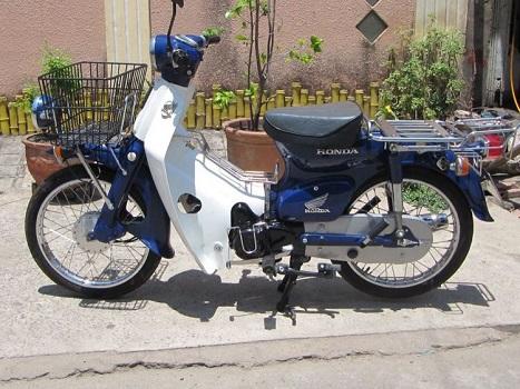 Sơn xe Honda Cub 81 màu xanh zin cực đẹp