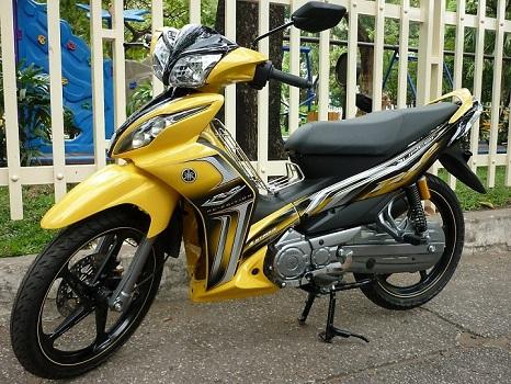 Sơn xe Jupiter RC màu vàng zin cực đẹp