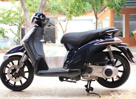 Sơn xe liberty 150 màu xanh đen zin cực đẹp