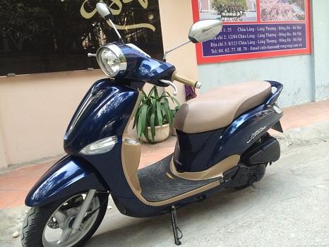Sơn xe Nozza màu xanh zin cực đẹp