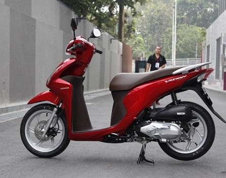 Sơn xe Vision 2014 màu đỏ zin cực đẹp