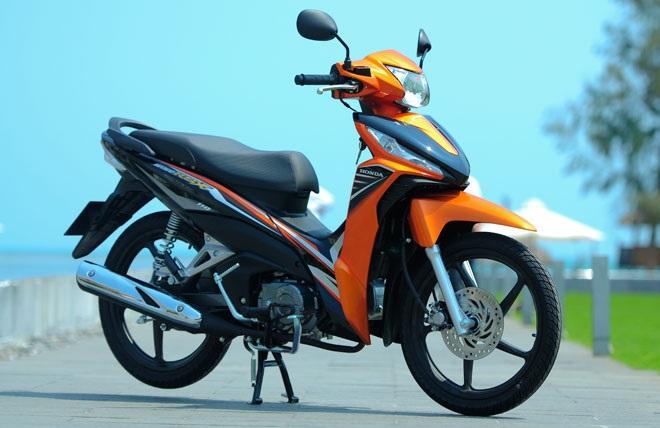 Sơn xe Wave RSX 110 màu cam đen zin cực đẹp